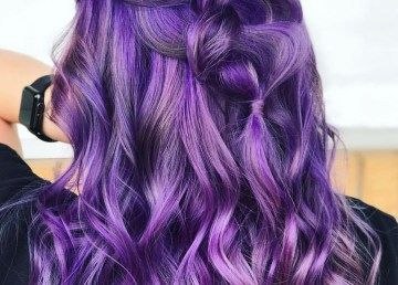 30 Lovely Purple Hair Color Ideas Trending In 2020 Low