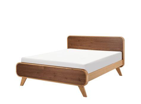 Fonteyn Doppelbett 140 X 200 Cm Eiche Und Walnuss Bett