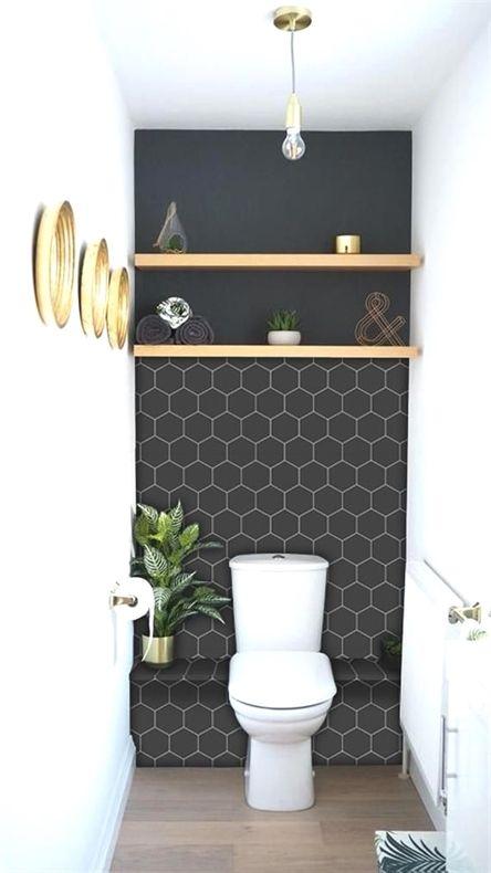 Kitchen And Bathroom Splashback Removable Vinyl Wallpaper Hexa Black Peel Stick Bathroom Splashback Bathroom Inspiration Small Toilet Room