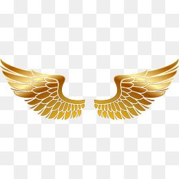 Wings Png Vector Material Golden Wings Hand Painted Golden Png