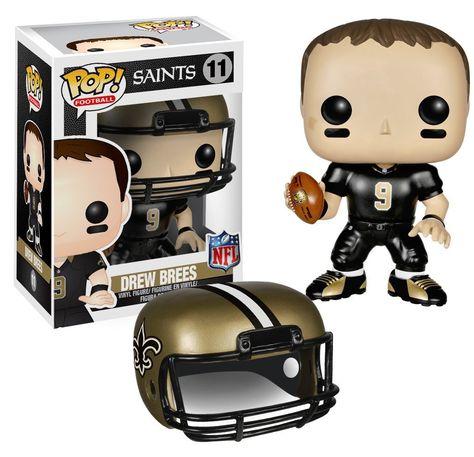 NFL New Orleans Saints Drew Brees Pop Vinyl Collectible Figure Kids Fanatics