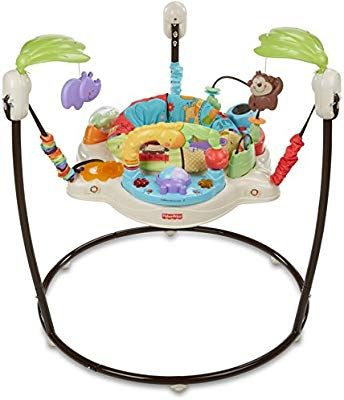 Amazon Com Fisher Price Jumperoo Luv U Zoo Stationary Stand Up Baby Activity Centers Baby Baby Activity Jumper Baby Bouncer Infant Activities