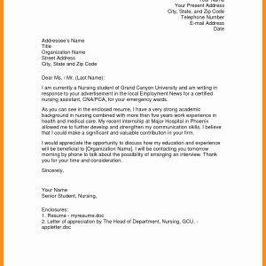 Nursing Student Cover Letter Unique 13 Fresh Nurse Practitioner