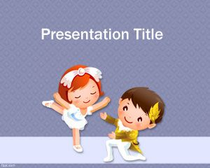 Cartoon Dancing Powerpoint Template Template Power Point Lucu Lucu Kartun Animasi