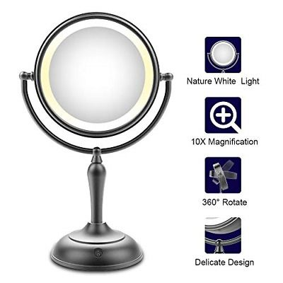 Advertisement Lighted Makeup Mirror 7 5 Inch Makeup Mirror With
