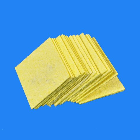Temperature Scouring  Electric Welding Yellow Soldering Iron Cleaning Sponge