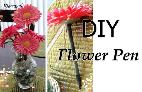 """DIY Flower pen.  Perfect for your Origami Owl jewelry bar.  I have an owl vase full of these!  Your pens are less likely to """"walk off"""" and these make great small gifts if you're on a budget or just starting out!  http://loveablelockets.com  Kayla Scully Mentor ID: 14951"""