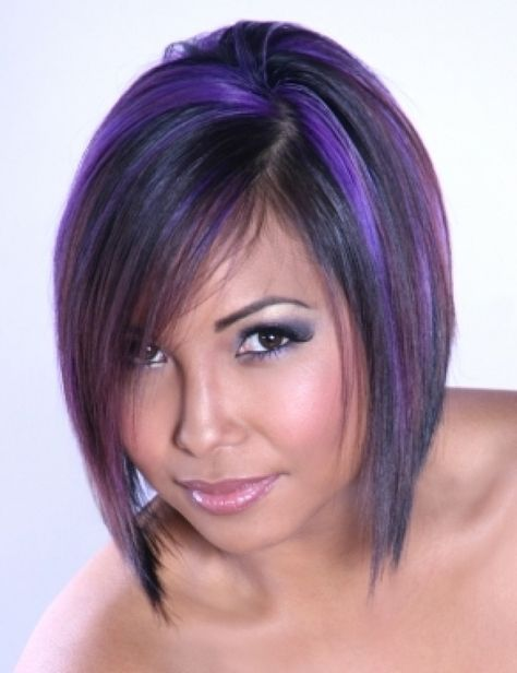Rock your Bob with Deep Purple Colors!!!