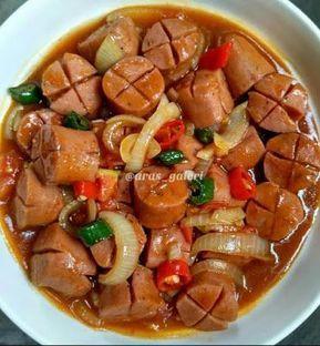 Tumis Sosis Asam Manis Bumbu Bawang Bombay Resep Masakan Cina Makan Siang Masakan