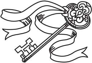 Urban Threads #SkeletonKey #Ribbon #AdultCP