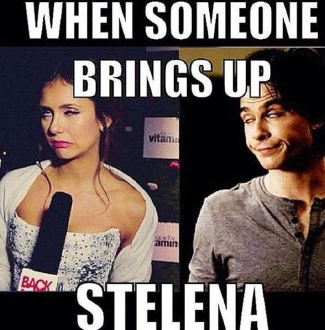 against Stelena, but I love Delena and this was funny!Nothing against Stelena, but I love Delena and this was funny! Vampire Diaries Stefan, Serie The Vampire Diaries, Vampire Diaries Poster, Ian Somerhalder Vampire Diaries, Vampire Diaries Wallpaper, Vampire Diaries Quotes, Vampire Diaries The Originals, Eric Northman, Stefan Salvatore