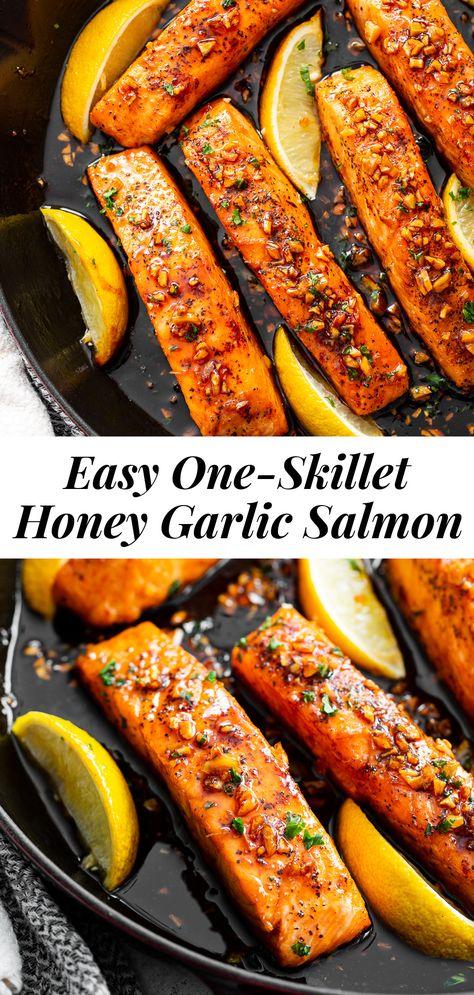 Honey Garlic Salmon {Paleo}