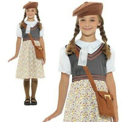 Girls 1940s School Girl Costume Childs Fancy Dress 40/'s Book Week