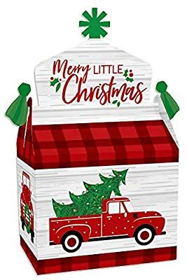 Amazon Com Big Dot Of Happiness Merry Little Christmas Tree Treat Box Party Favors Red Tr Big Christmas Tree Little Christmas Trees Merry Little Christmas