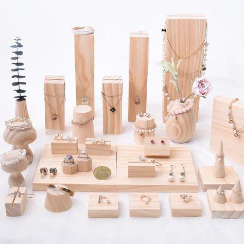 Wood Jewelry Market Display