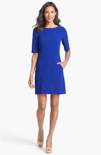 Simple Very Blue Dress Tahari Seamed A Line Nordstrom