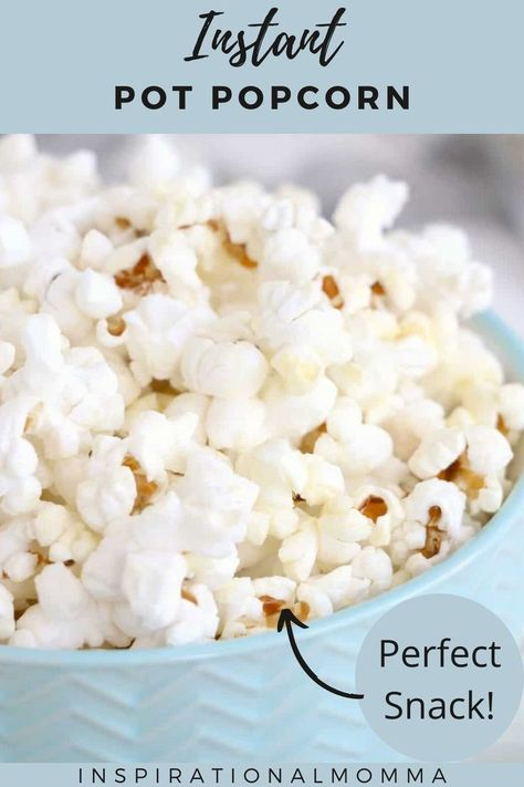 12 minutes · Vegan Gluten free · Serves 12 · Instant Pot Popcorn is a perfect snack made with just 3 ingredients! It is so simple to make and the kids will love watching it pop! #instantpotpopcorn #3ingredients #perfectsnack #inspirationalmomma