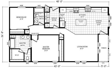 The Sierra Mobile Home Floor Plan Is A 28 X 48 1280 Sqft Double Wide Available For Sale In I Mobile Home Floor Plans Floor Plans Double Wide Manufactured Homes