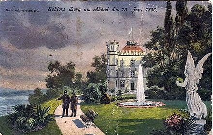 1901 Postcard Of Schloss Berg Am Starnberger See Neuschwanstein Castle Germany Castles Castle