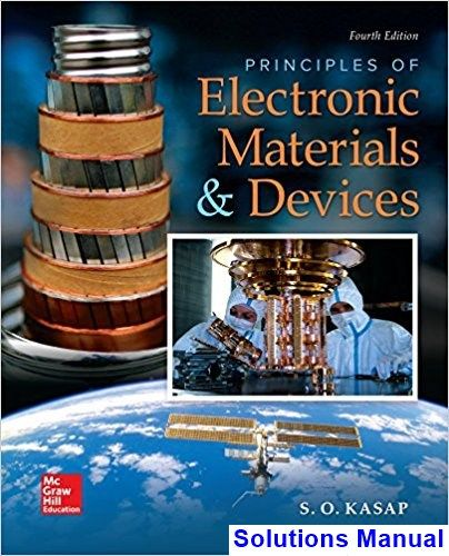 Solutions Manual For Principles Of Electronic Materials And