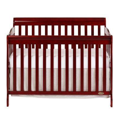 Dream On Me Ashton 5 In 1 Convertible Crib In Cherry Convertible Crib Baby Cribs Convertible Cribs