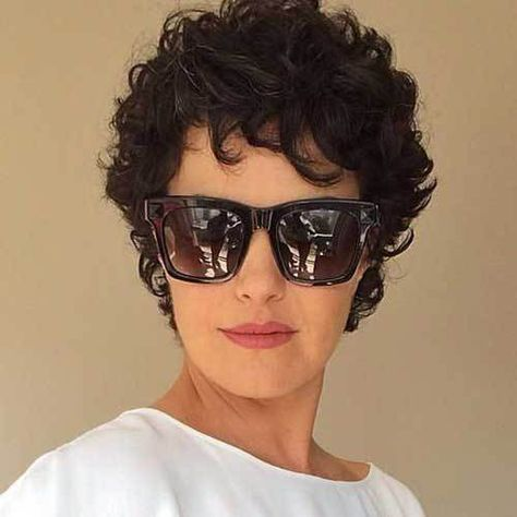 20 Latest Short Curly Hairstyles: #15. Stylish Pixie Curled Hair; #shorthair; #curlyhair; #pixie; #pixiecut