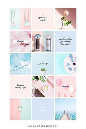 Serenidade Kit Para Feed Organizado Com Imagens Layout Do