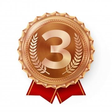 Bronze Medal Vector Best First Placement Winner Champion Number One 3rd Place Achievement Metallic Winner Award Red Isolated On White Background Realistic Illu Bronze Photo Logo Design Medals