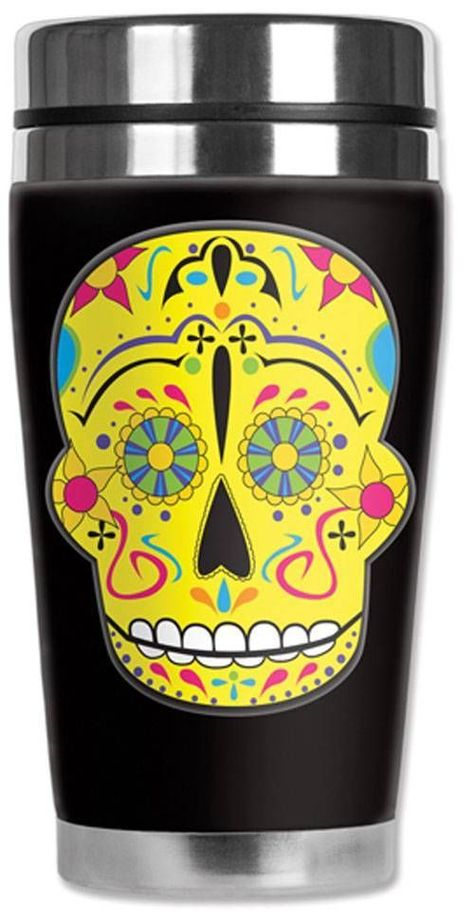 Mugzie® brand 16-Ounce To Go Tumbler with Insulated Wetsuit Cover Bathroom Accessories Fancy Cross