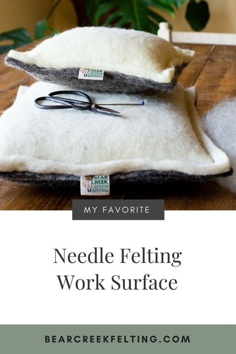 Alternative to a Foam Needle Felting Cushion! The all natural wool needle felting pillow. Lasts longer than a foam felting cushion, feels better, works better and is better for the environment. 100 percent wool from North Dakota farms. You will never want