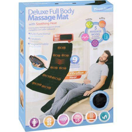 Health Touch Deluxe Full Body Massage Mat With Soothing Heat Walmart Com Health Touch Deluxe Full Body Massage Mat With Soothing Heat Body D With Images Body Massage