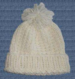 d7b63612586 Knit Beanie Slouchy Watch Hat Ivory Off White Wool Acrylic Ski