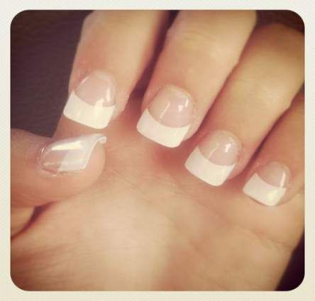 26+ New Ideas Nails Pretty Simple French Tips
