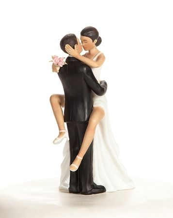 Funny Black Wedding Cake Toppers
