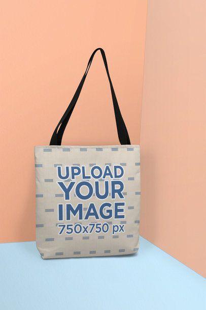 Download Placeit Tote Bag Mockup Standing Against A Colorful Scenario Bag Mockup Tote Bag Bags