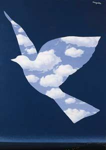 René Magritte. L'oiseau de ciel (1964)