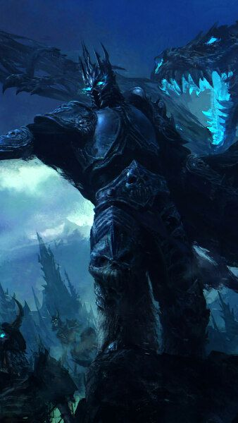 Lich King Undead Army Wow Fantasy 4k Hd Mobile Smartphone And Pc Desktop Laptop Wallpaper 3840x2160 1920x1080 2160x38 Death Knight Lich King Warcraft Art