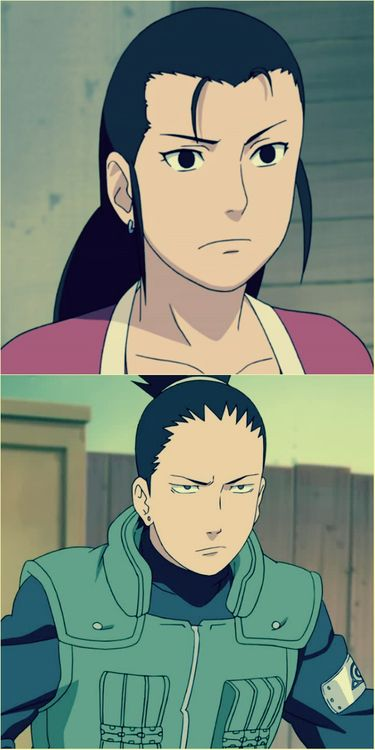 Shikamaru and his mother look at them they look the same like tihs if u think there r cool