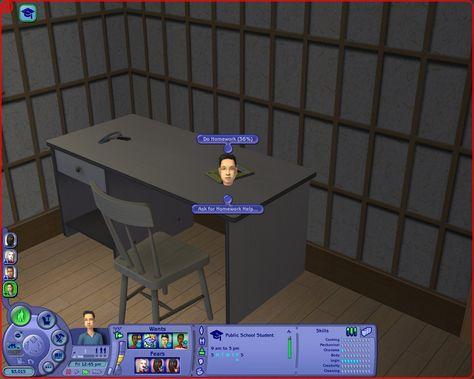 Mod The Sims Partial Homework Credit The Sims 2 Mod Sims 2 Sims Do Homework