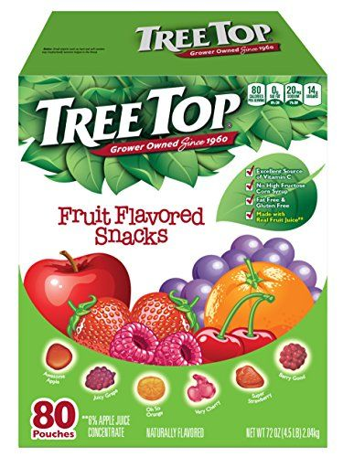 Tree Top All Natural Fruit Snacks 80 Pouches Tree Top Https Www Amazon Com Dp B004s7f0vu Ref Cm Sw R Tree Top Fruit Snacks Fruit Snacks Nutritional Snacks