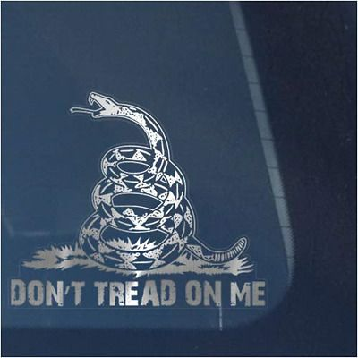 Don/'t Tread On Me Decal Vinyl Graphic Bumper Sticker Window Gadsden Flag Snake