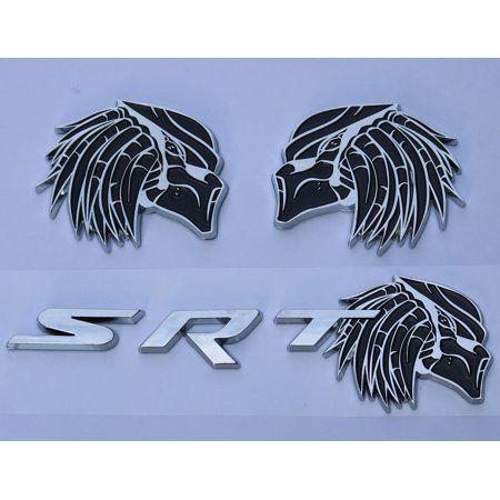 HELLCAT SRT Emblem Door Side Fender Badge Sticker Decal Metal Dodge Challenger