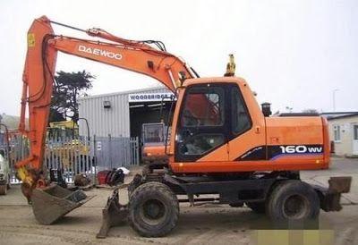 Doosan Solar 140 160w V Wheeled Excavator Workshop Service Repair Manual Pdf Repair Manuals Excavator Daewoo