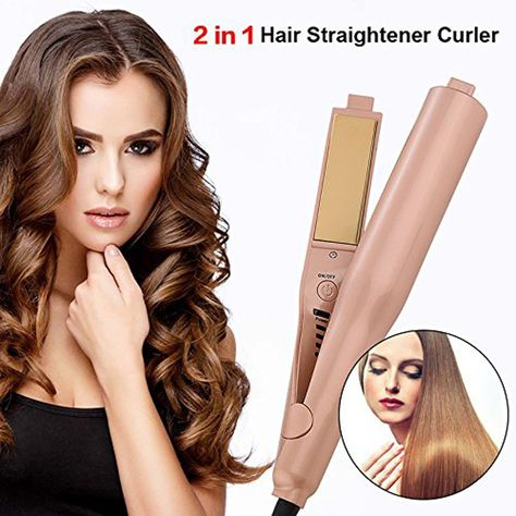24d0a7688e70 2 in 1 Hair Straightener and Curling Iron  Straighten hair more smooth  straight