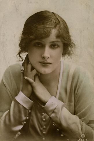 Size: 24x16in Young Woman, Miss Peggy KurtonChoose from our catalog of over 500,000 posters! A young woman (the actress Peggy Kurton) in a demure pose with her hands clasped at her neck.
