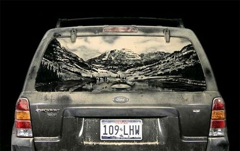 Dirty Car Art Paintings That Will Blow Your Mind Paintings - Scott wade makes wonderful art dusty car windows