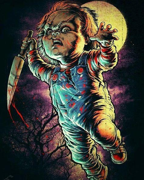 #chucky #childsplay #chuckyclub #chuckyfans #chuckyseries #chuckyfanatics #chuckytattoo 😈🔫 . #horrorart #horrorstories #horrorvhs…