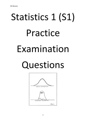 Statistics 1 Question Booklet(1)pdf AP Statistics Pinterest - sample variance
