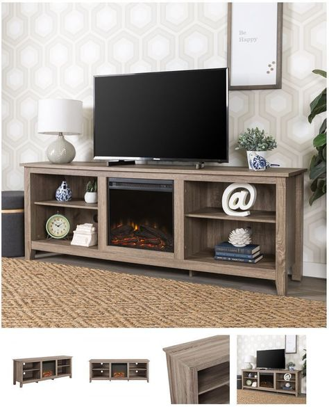 70 Inch Tv Stand With Fireplace Media Console Electric Entertainment Center Sale Walkeredison Fireplace Tv Stand Tv Stand Wood Fireplace Tv