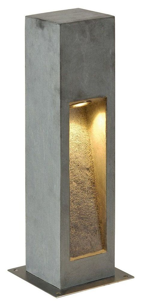 Design Arrock Stone LED Bollard Light Keep the Clogs Out of Your Kitchen Sinks One day last Concrete Light, Precast Concrete, Concrete Lamp, Concrete Design, Driveway Lighting, Exterior Lighting, Bollard Lighting, Outdoor Lighting, Stone Lamp